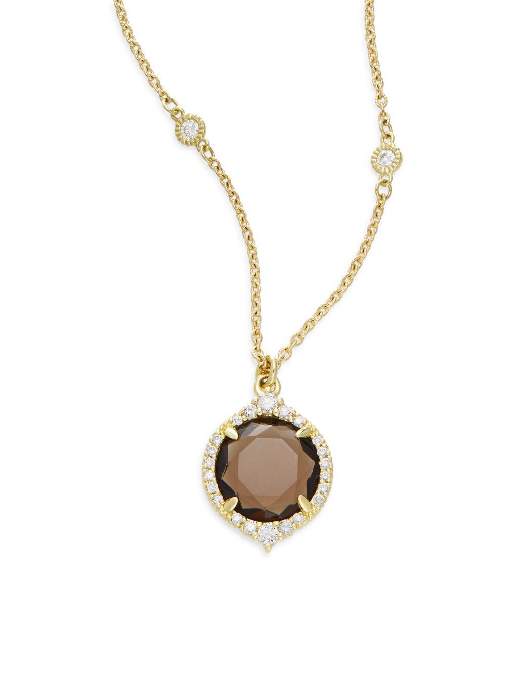 Lyst judith ripka la petite smoky quartz diamond 18k yellow gallery aloadofball Image collections