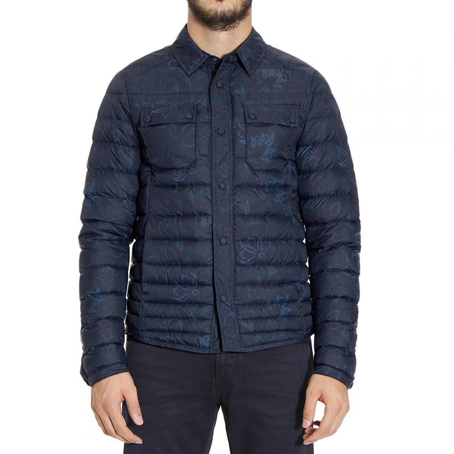 Lyst Etro Down Jacket In Blue For Men