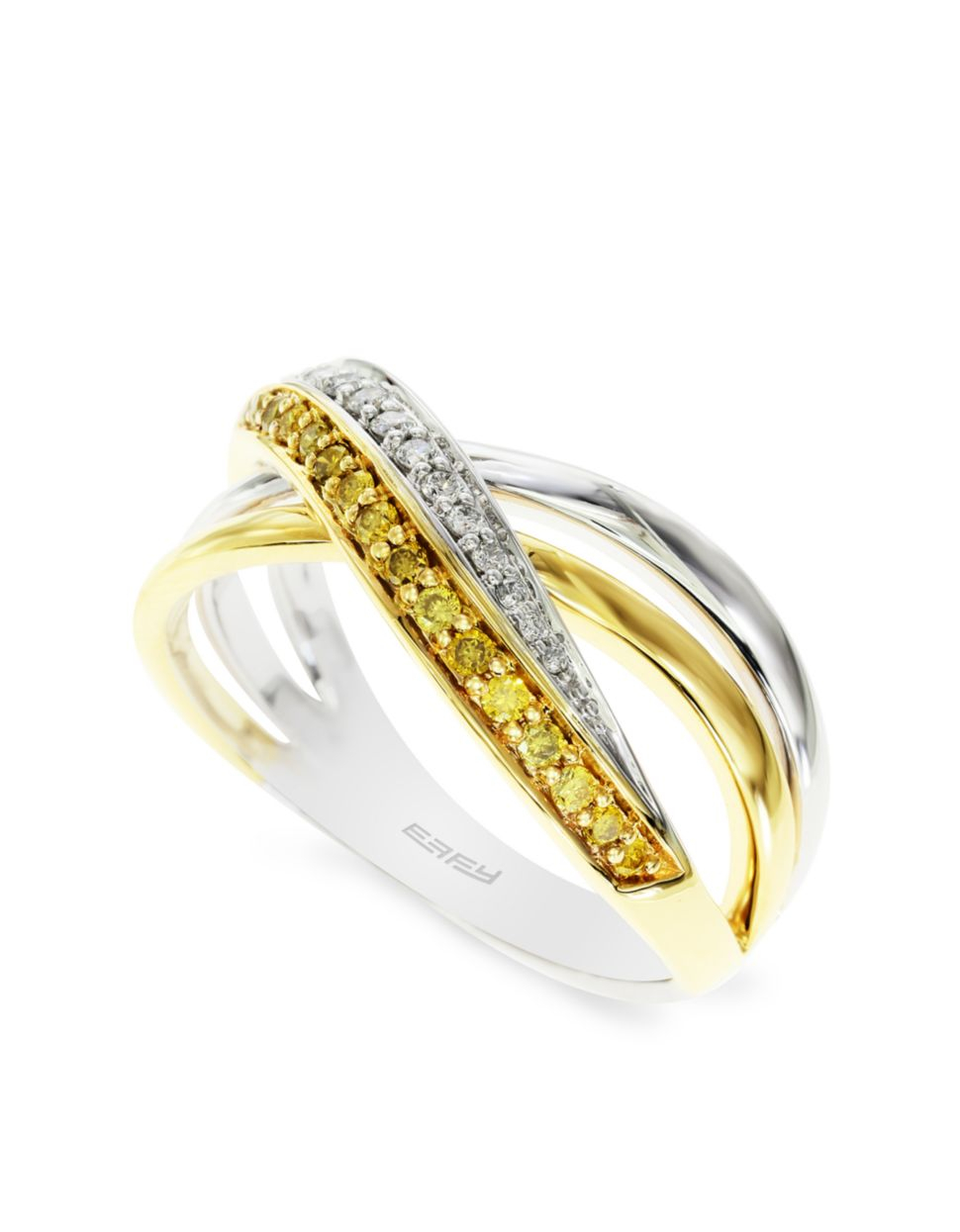 effy canare 14k white and yellow gold ring in gold