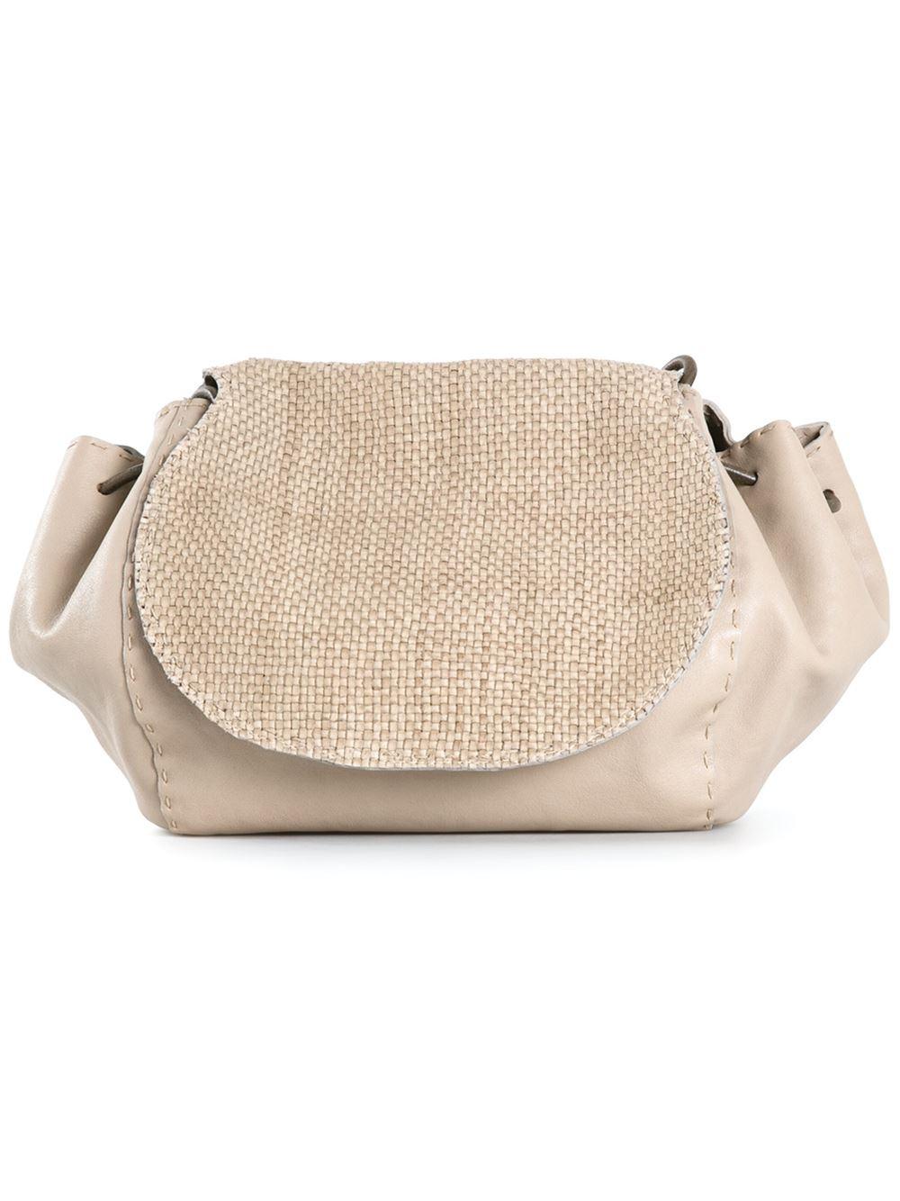 Lyst Henry Beguelin Woven Top Shoulder Bag In Natural