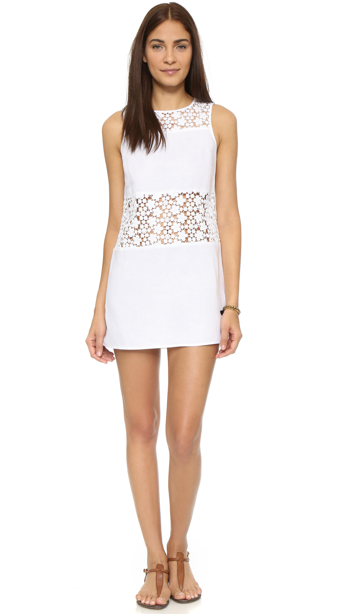 Lyst - Tory Burch A Line Cover Up Dress In White
