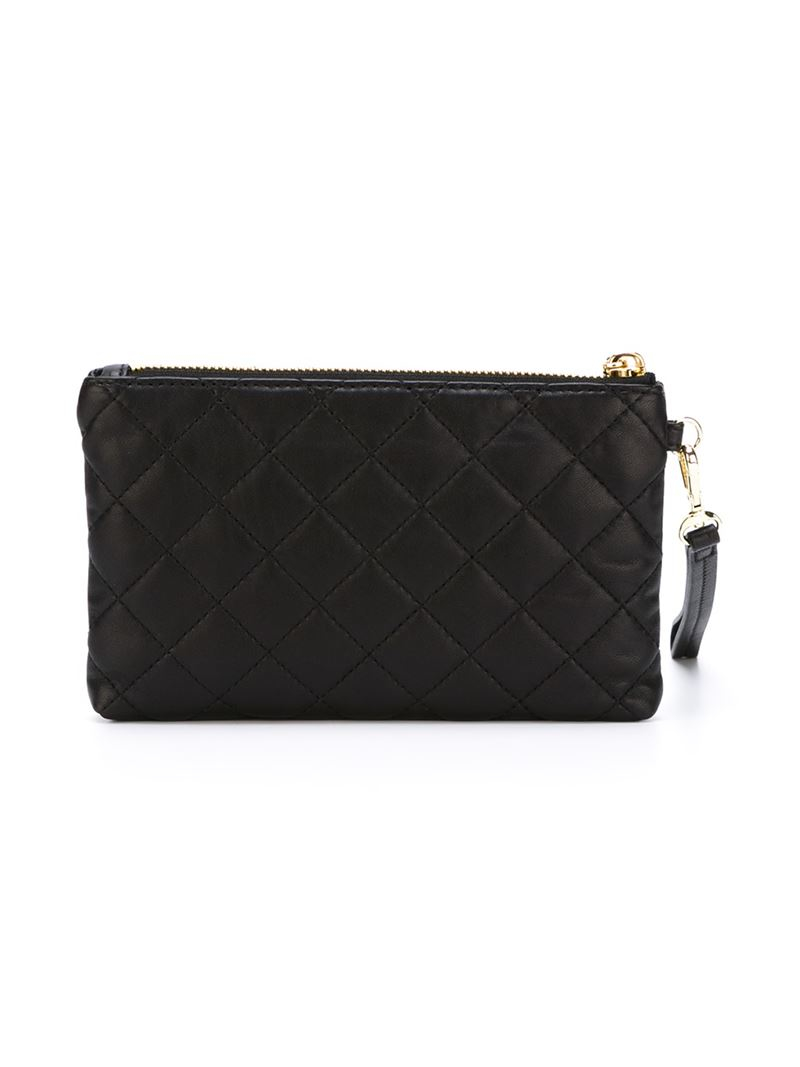 Dkny Quilted Wristlet Pouch in Black   Lyst : quilted wristlet - Adamdwight.com