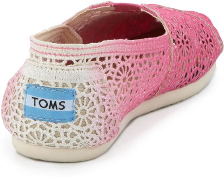 toms ombre crochet slipon fuchsia in pink bright pink lyst