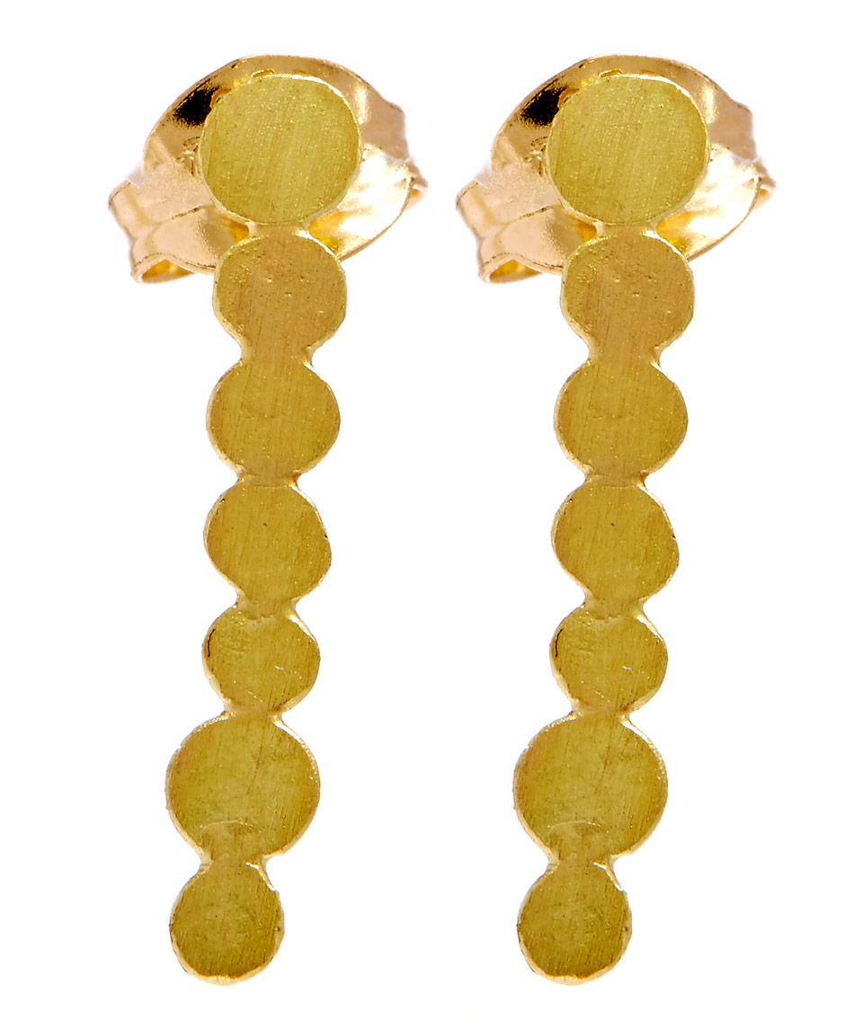 fullxfull earrings by line products il minimal susan gold brushed sarantos studs bar skinny yellow x stud fwcv