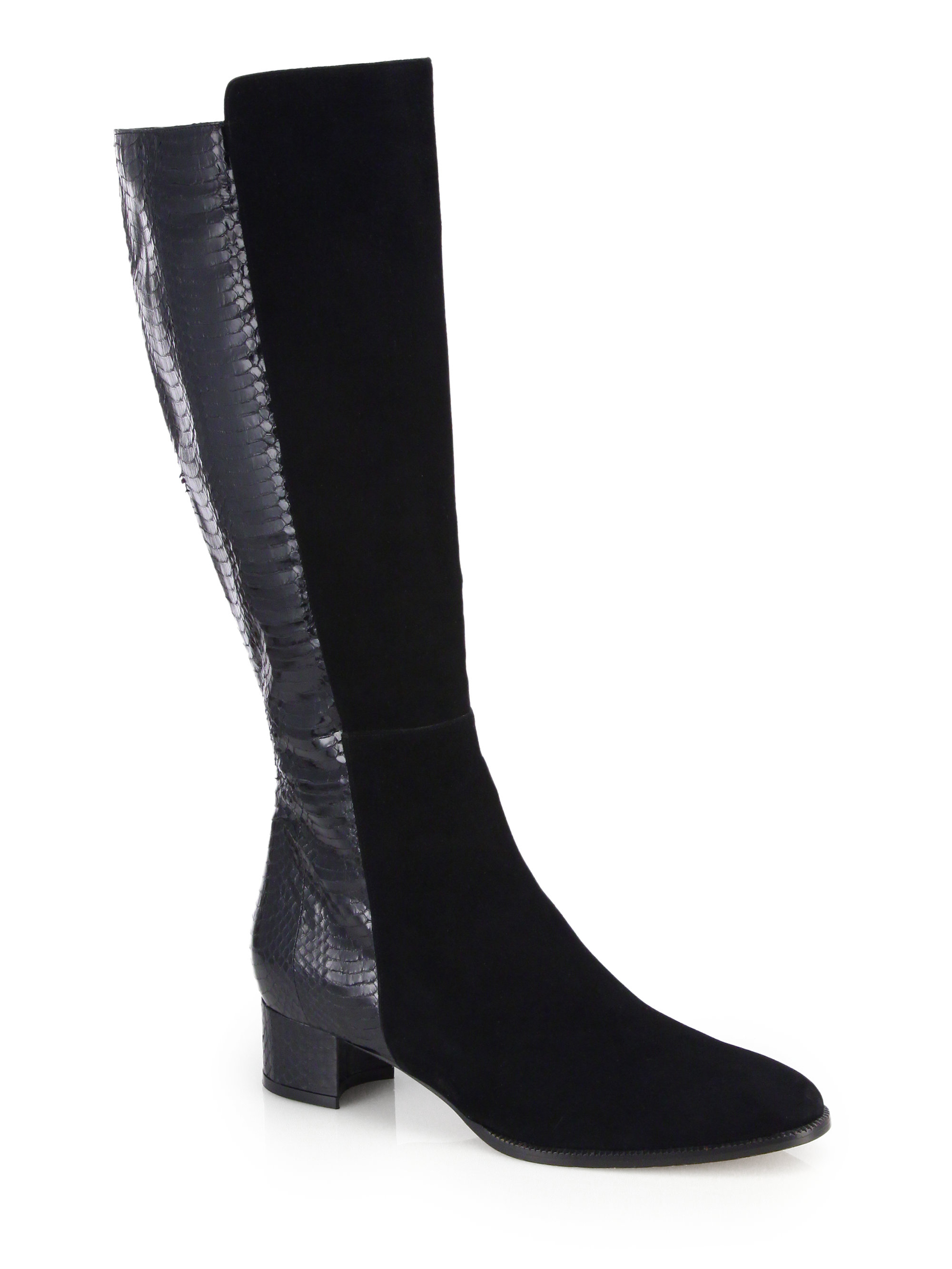 Manolo Blahnik Pascalare 30mm Over The Knee Boot In Black