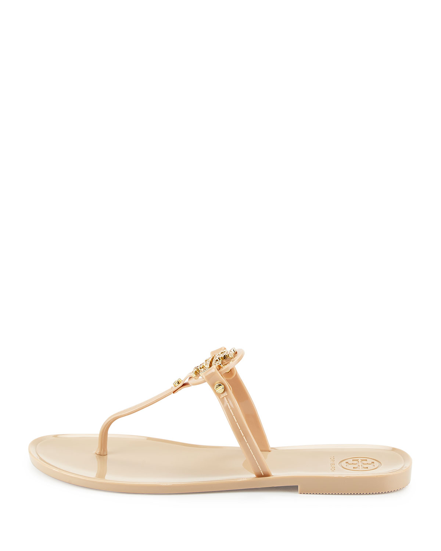 9a2b4012c8a4f Lyst - Tory Burch Mini Miller Flat Thong Sandal in Metallic