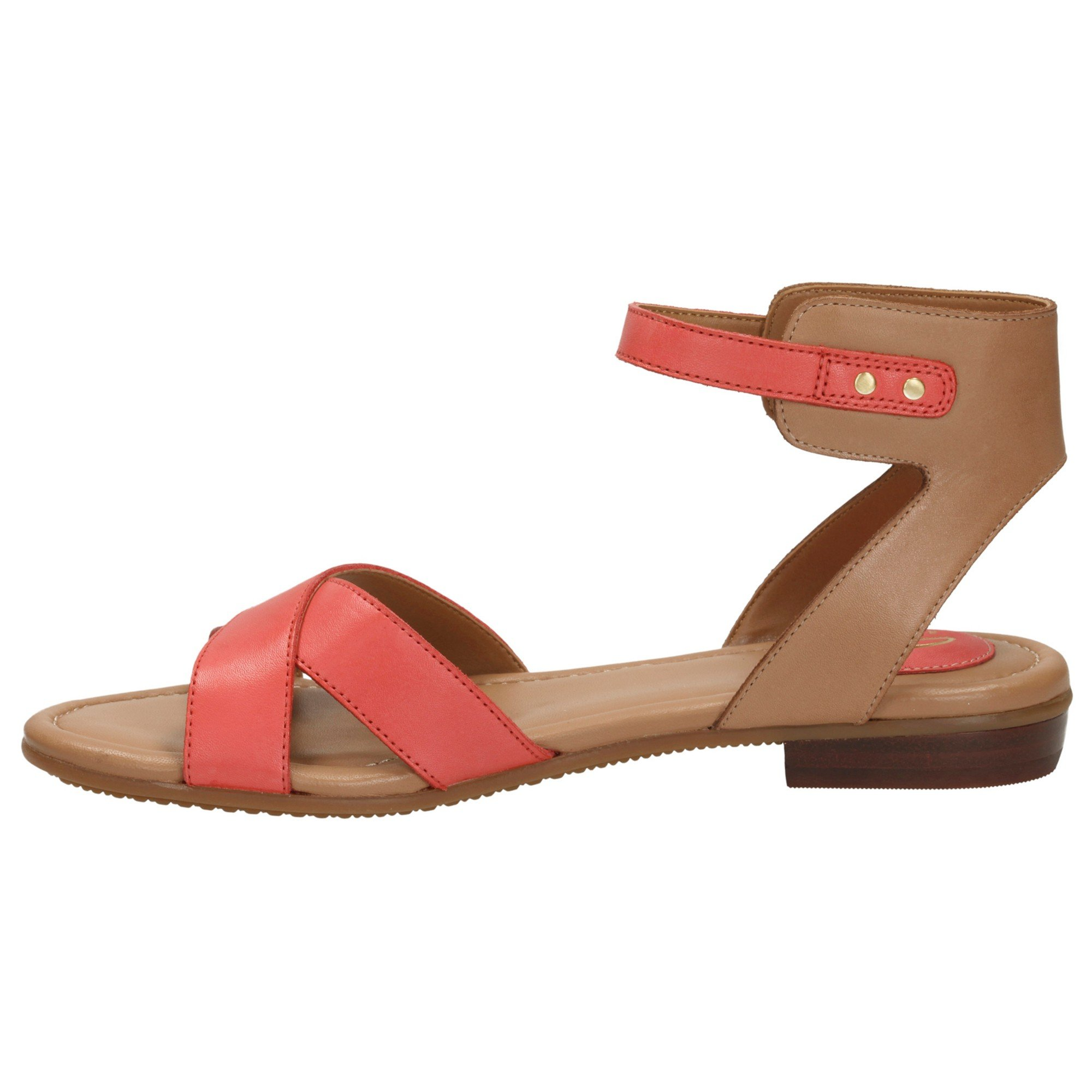 7263669392e8fe Clarks Viveca Zeal Leather Ankle Strap Sandals in Pink - Lyst