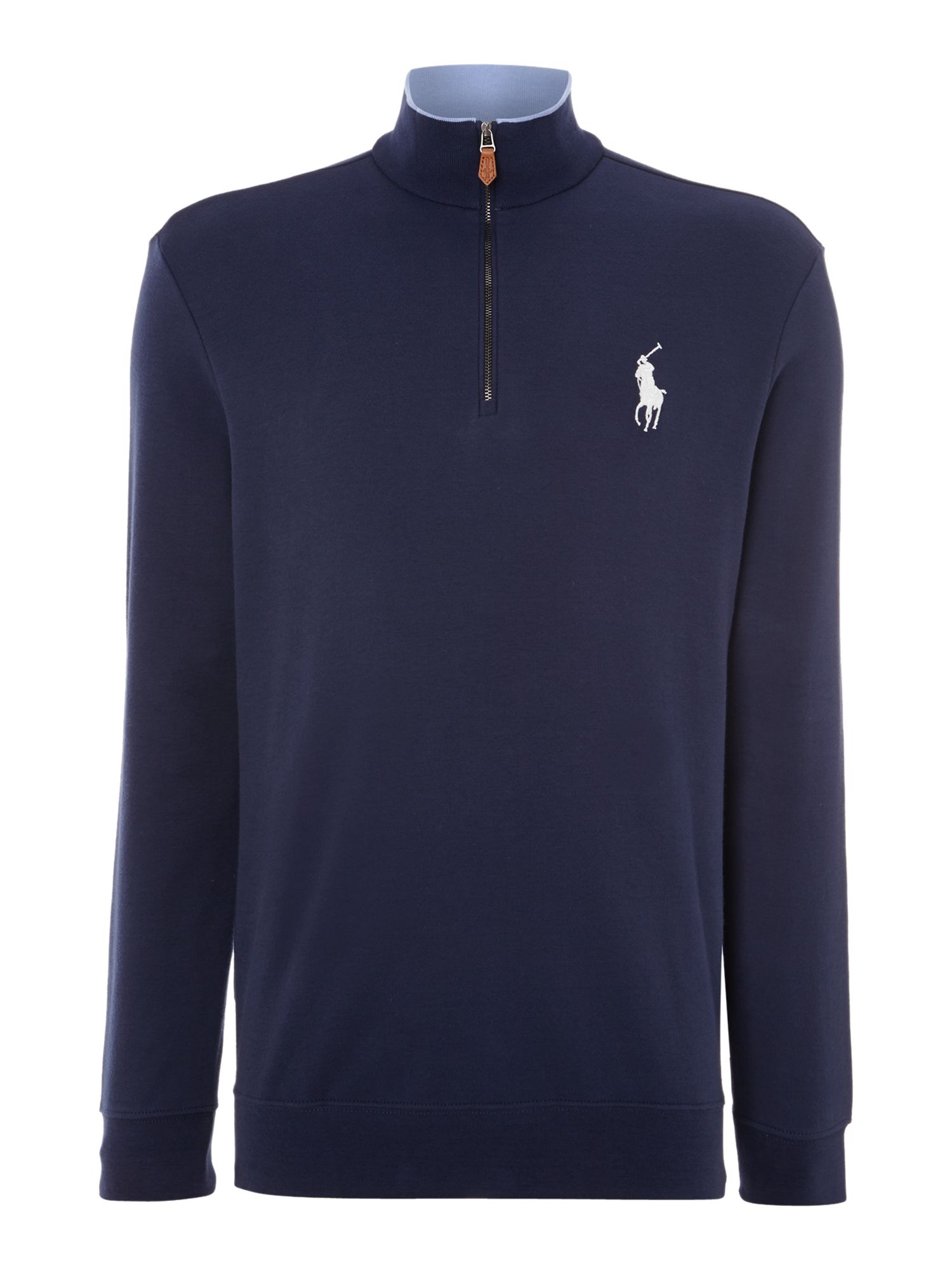 Ralph Lauren Golf Long Sleeve Half Zip Sweat Shirt In Blue