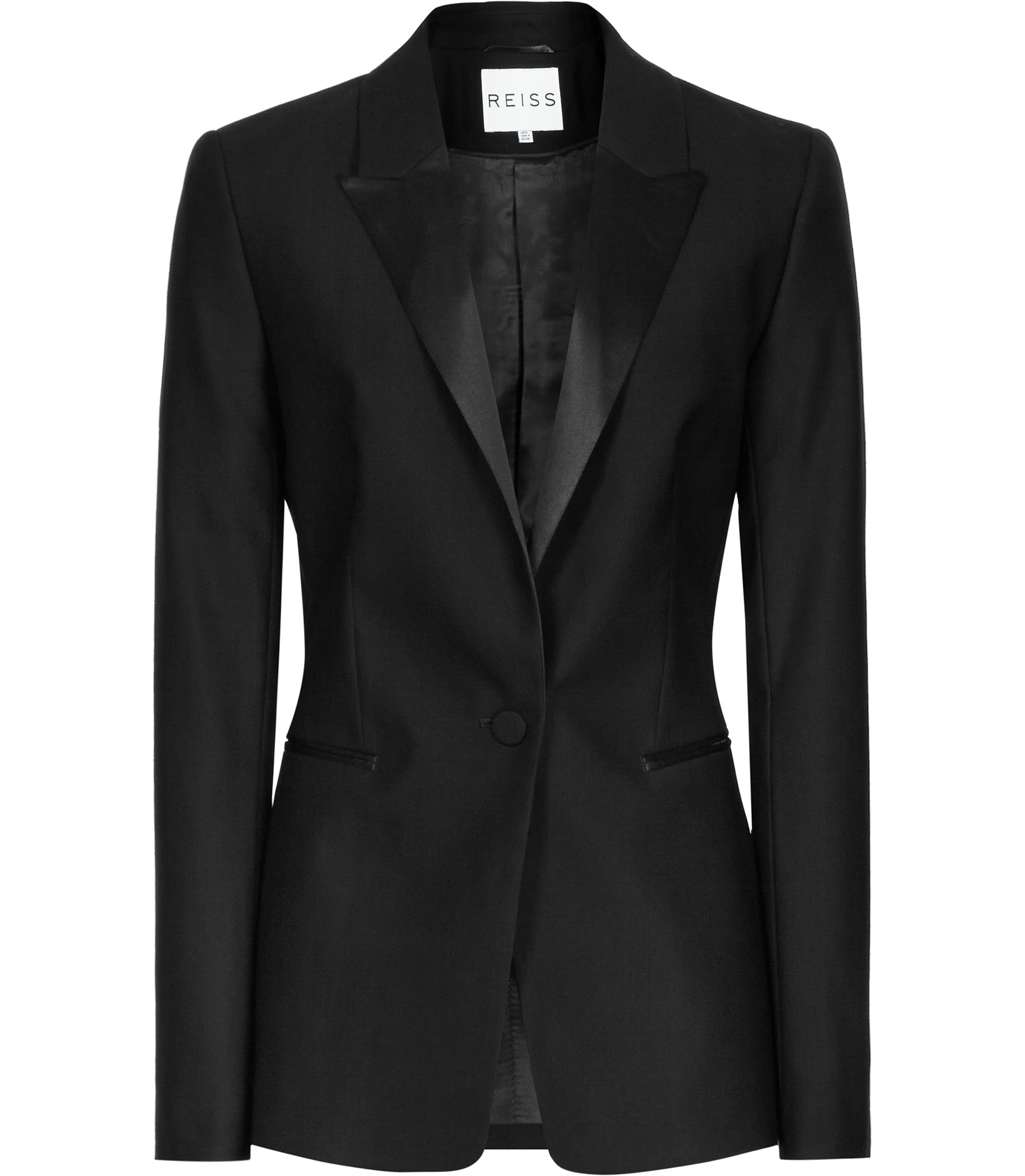 Lyst Reiss Pfeiffer Slim Fit Wool Blazer In Black