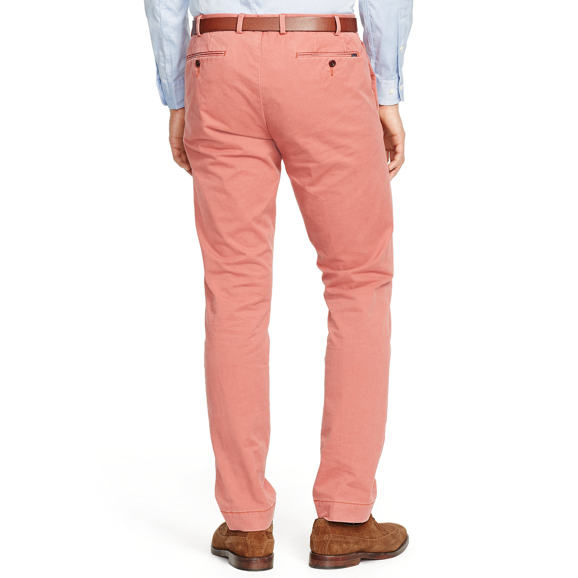 b23f6b67b1644 Lyst - Polo Ralph Lauren Slim-fit Stretch Chino in Red for Men