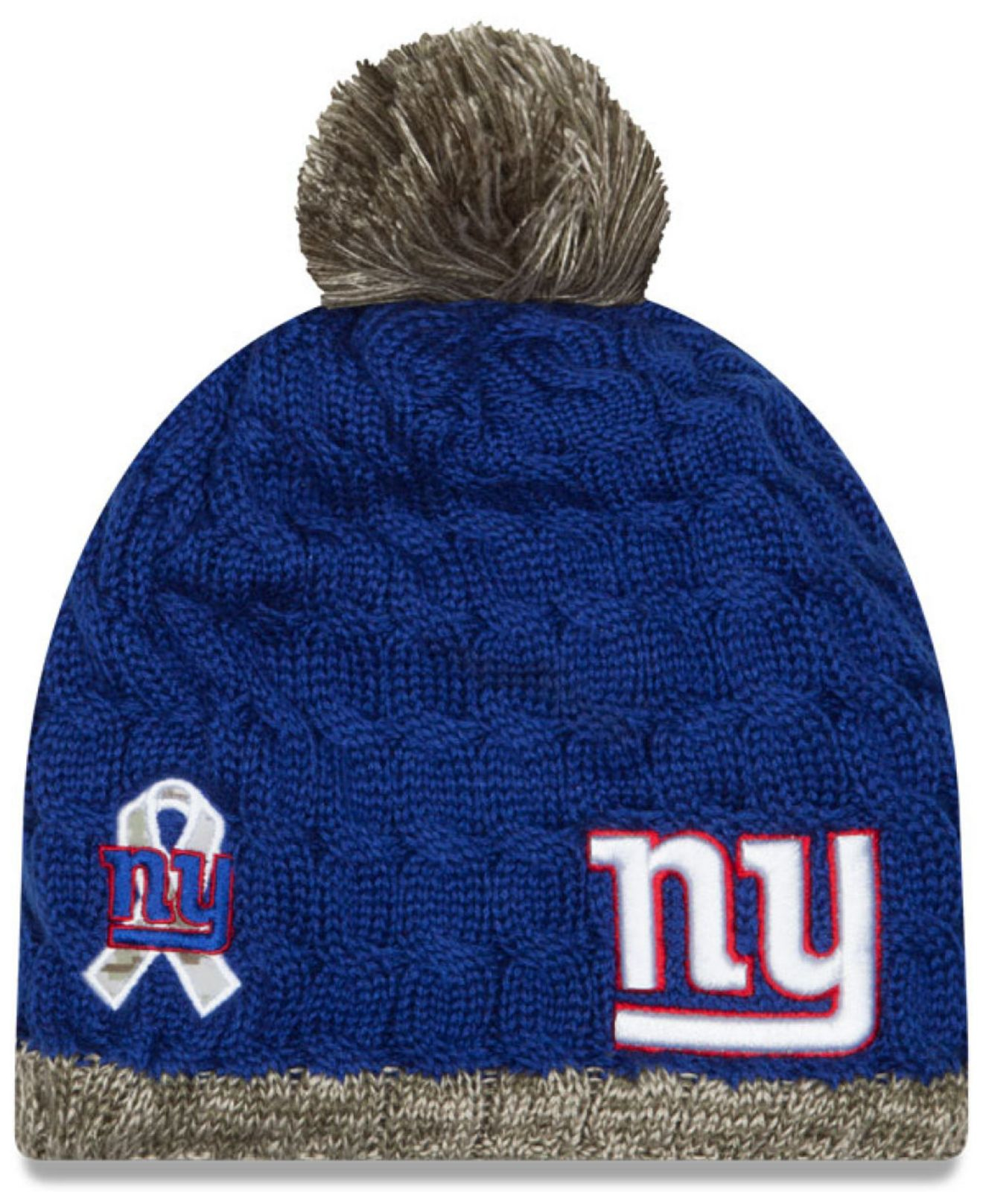 44f1ee58e4e ... get ktz womens new york giants salute to service knit hat in . 8dd0b  62d76