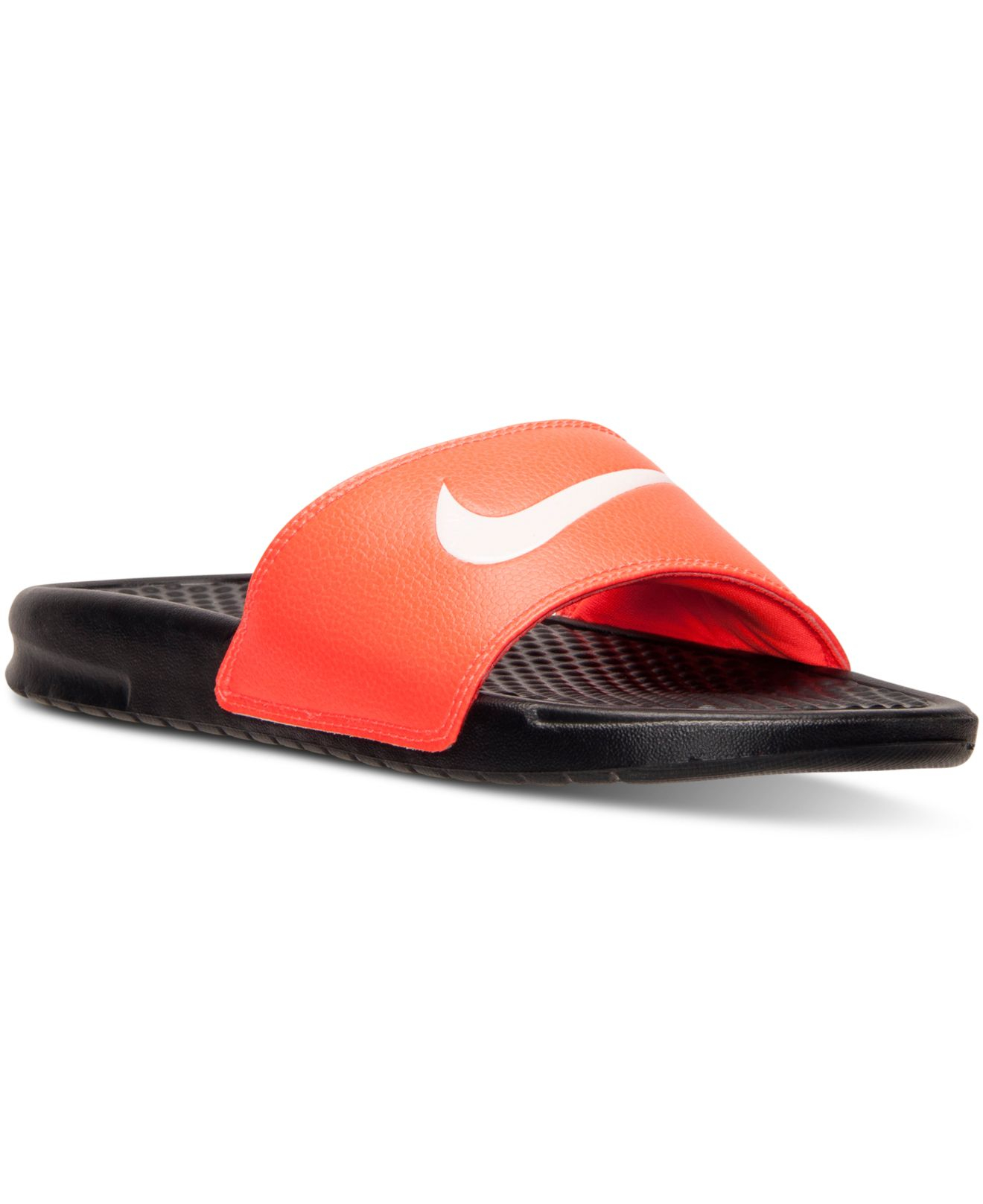 77a970dfe Lyst - Nike Men s Benassi Swoosh Slide Sandals From Finish Line in ...