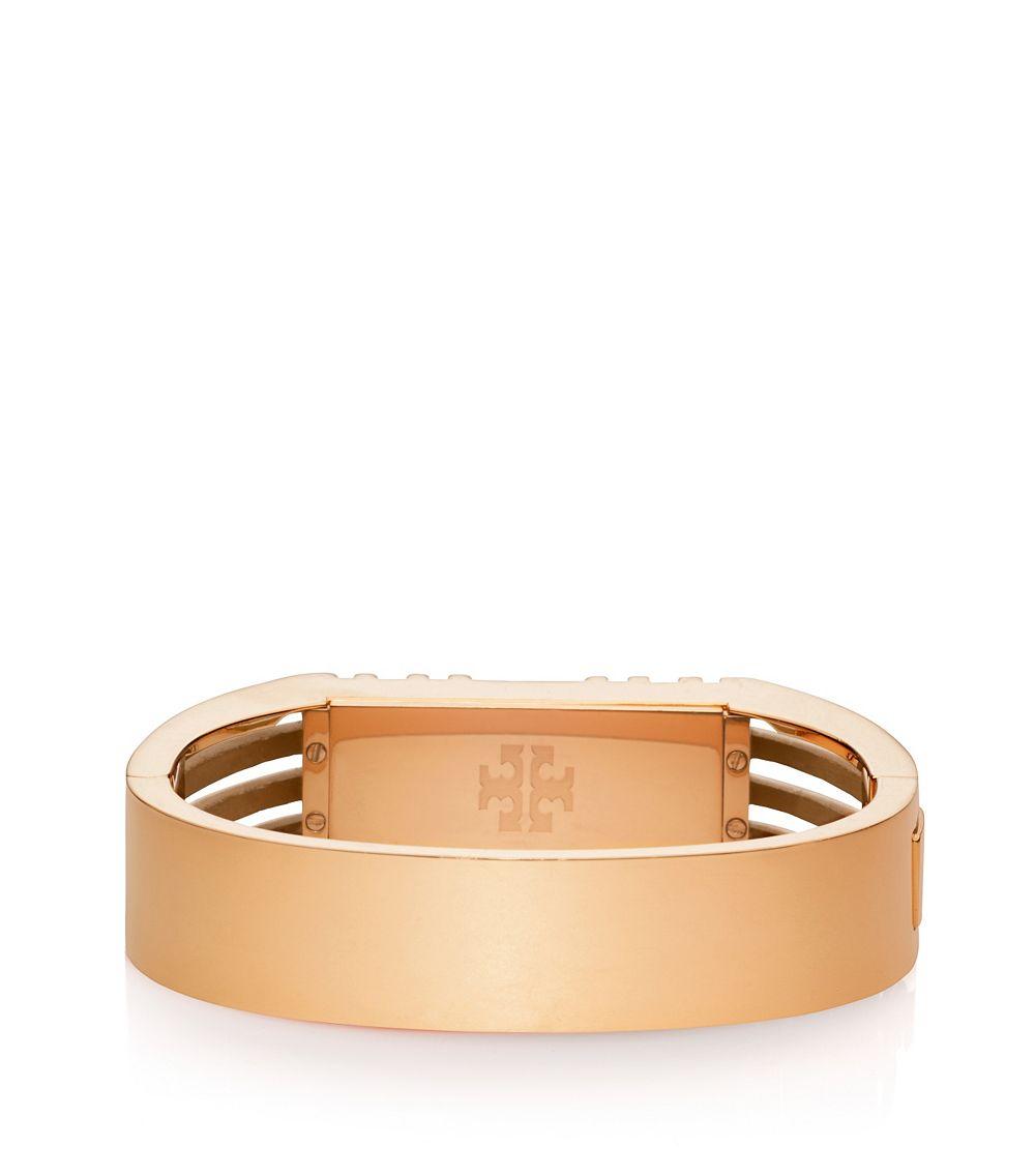 burch for fitbit metal hinged bracelet in pink lyst