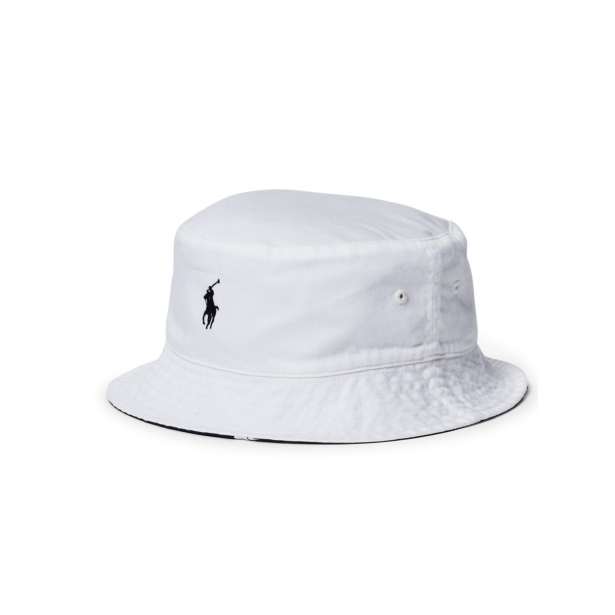 a91b11620751b Polo Ralph Lauren Reversible Twill Bucket Hat in White for Men - Lyst