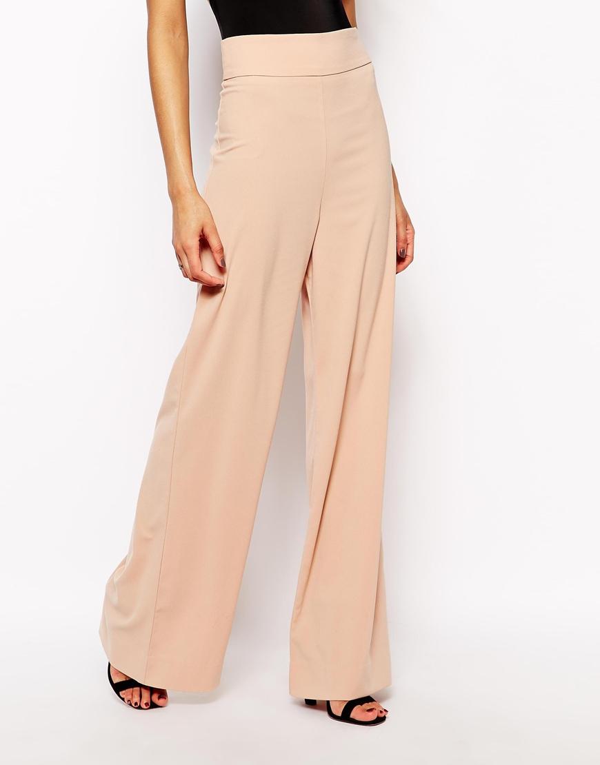 Lyst Aq Aq Belair High Waist Pants With Wide Leg In Natural