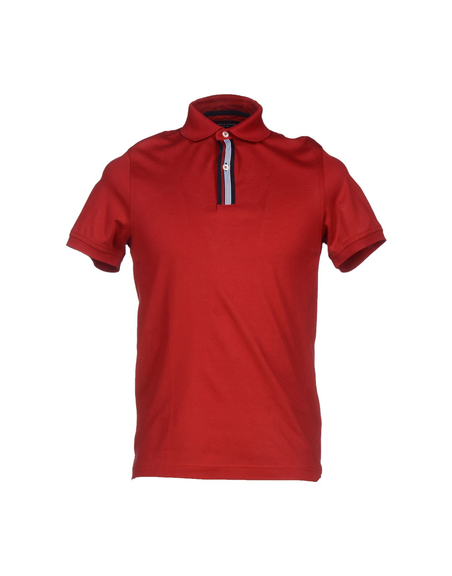 Tommy Hilfiger Polo Shirt In Red For Men Lyst