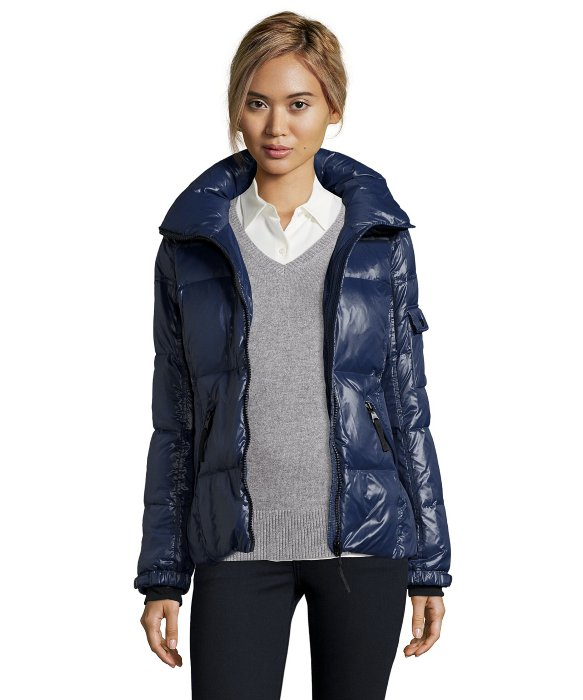 S13/nyc Navy Quilted &39rider&39 Short Zip Down Jacket in Blue | Lyst