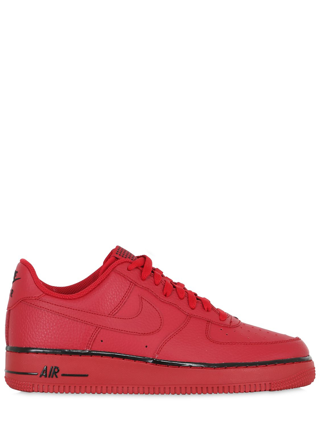 nike air force 1 faux leather sneakers in red for men lyst. Black Bedroom Furniture Sets. Home Design Ideas