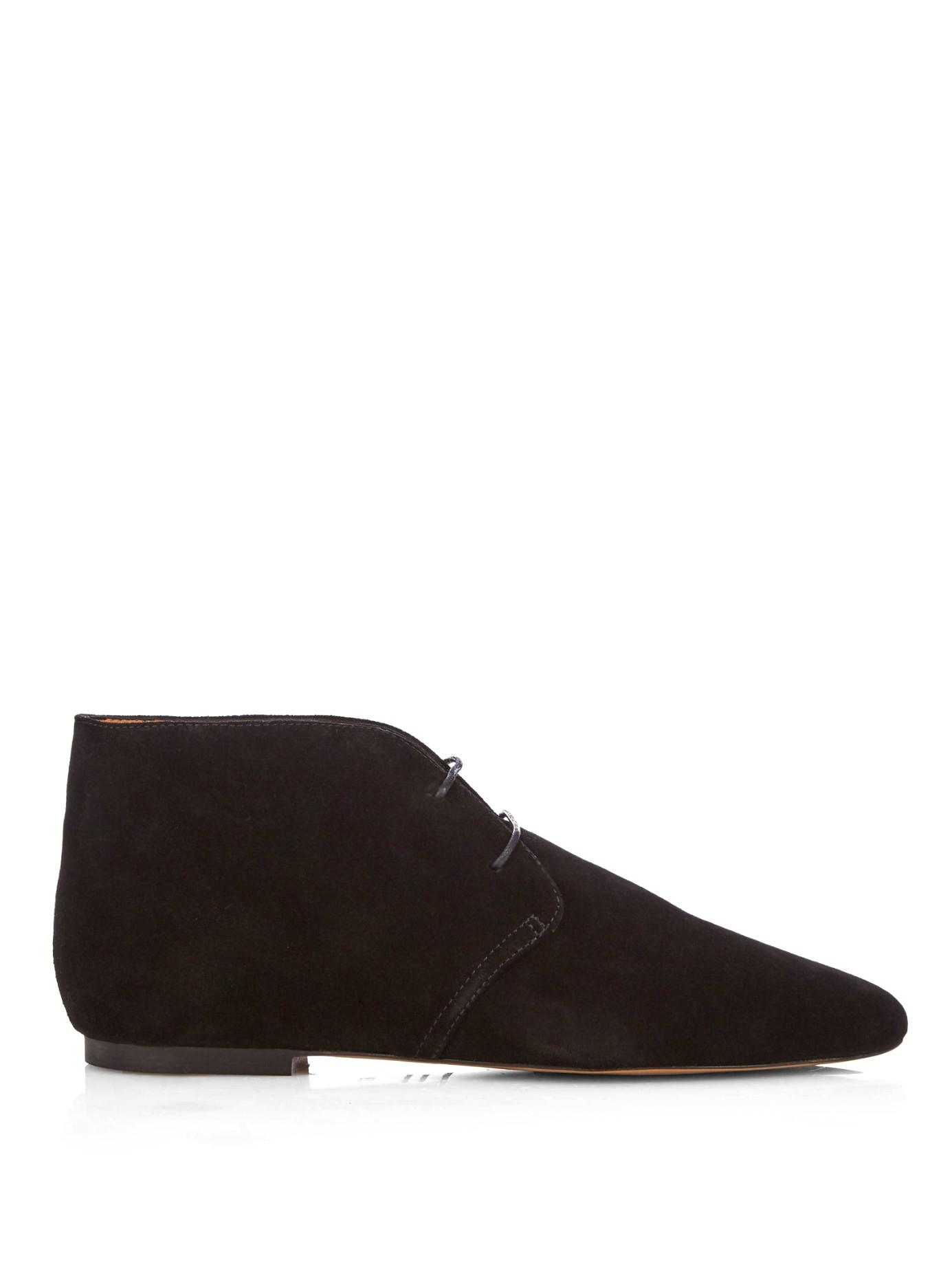 Isabel Marant Black Suede Derst Boots sale wholesale price qlWXiel6