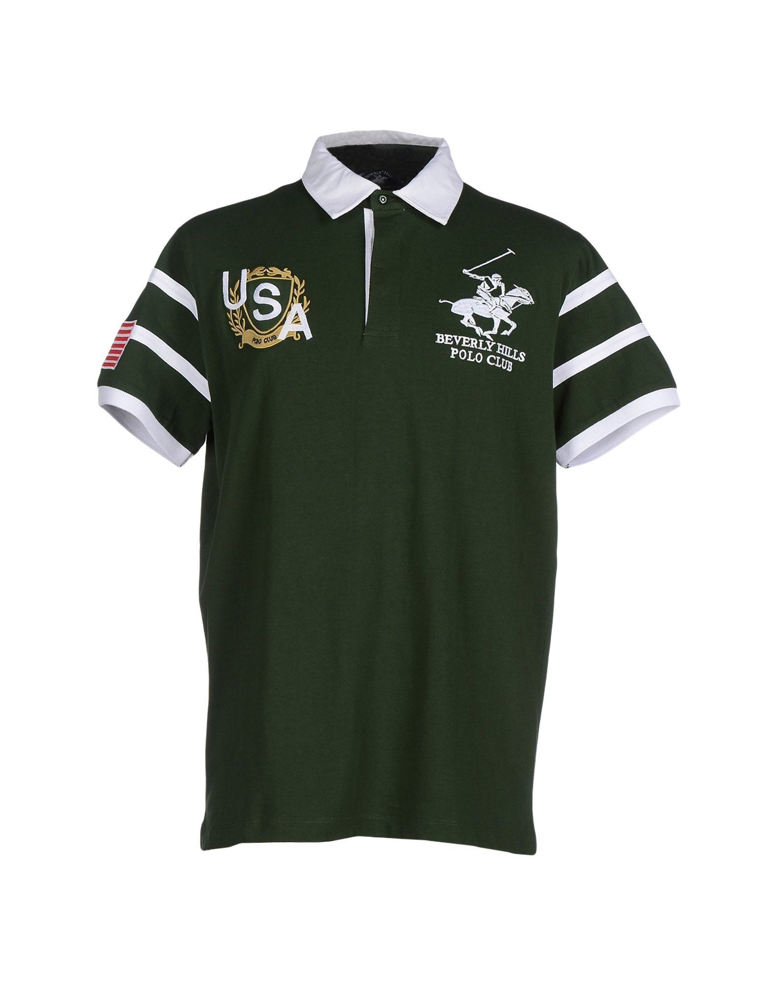 Beverly Hills Polo Club Polo Shirt In Green For Men Lyst