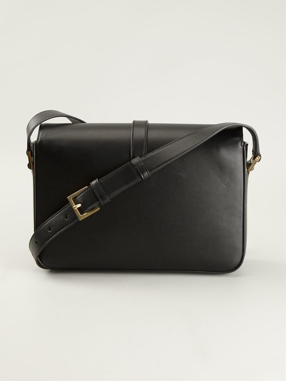 Lyst Saint Laurent Universit 233 Shoulder Bag In Black