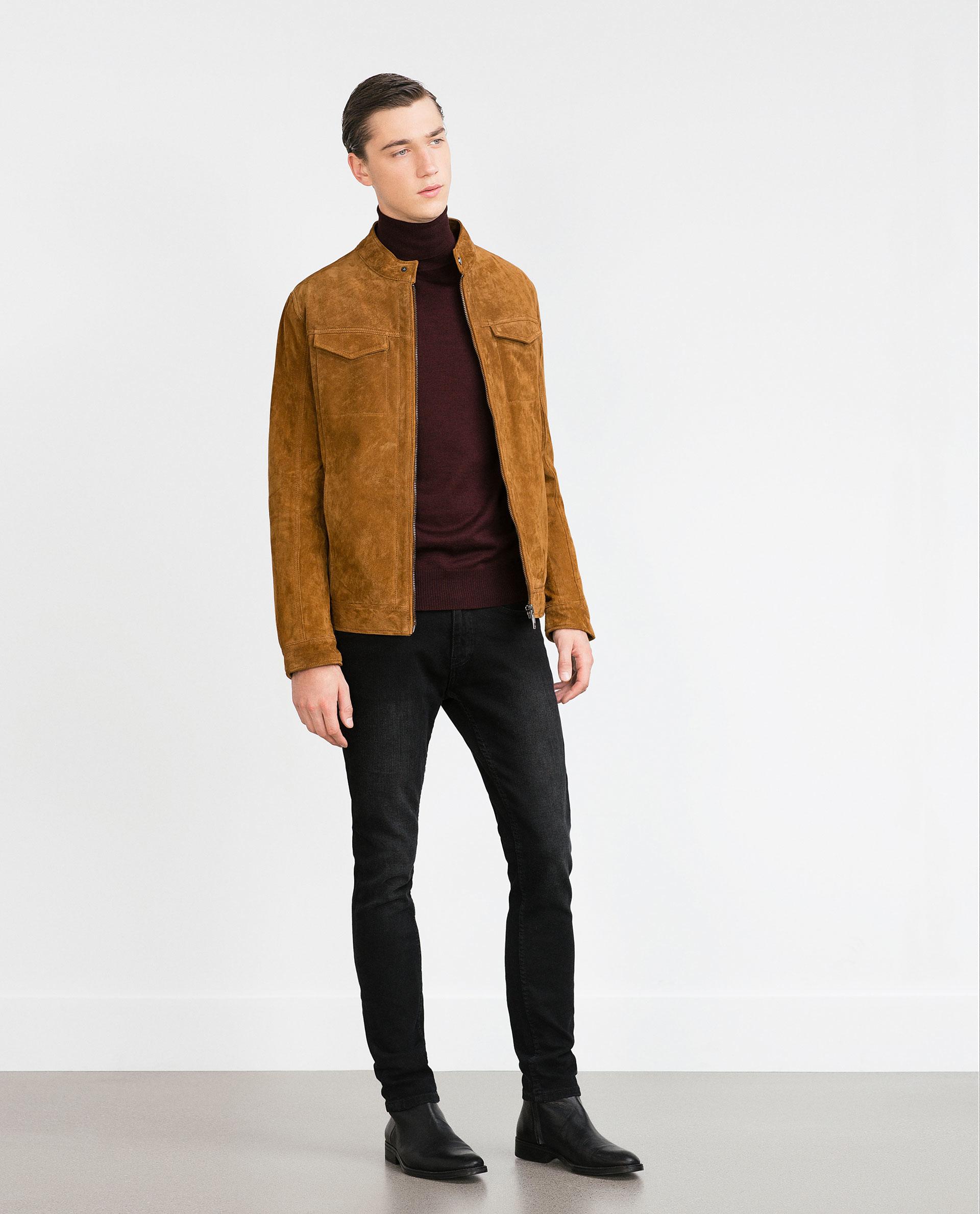 Mens jacket camel - Mens Jackets And Coats Zara