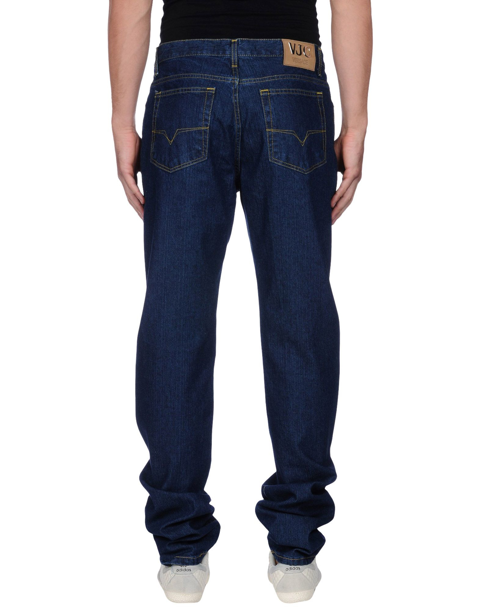 lyst versace jeans denim trousers in blue for men. Black Bedroom Furniture Sets. Home Design Ideas