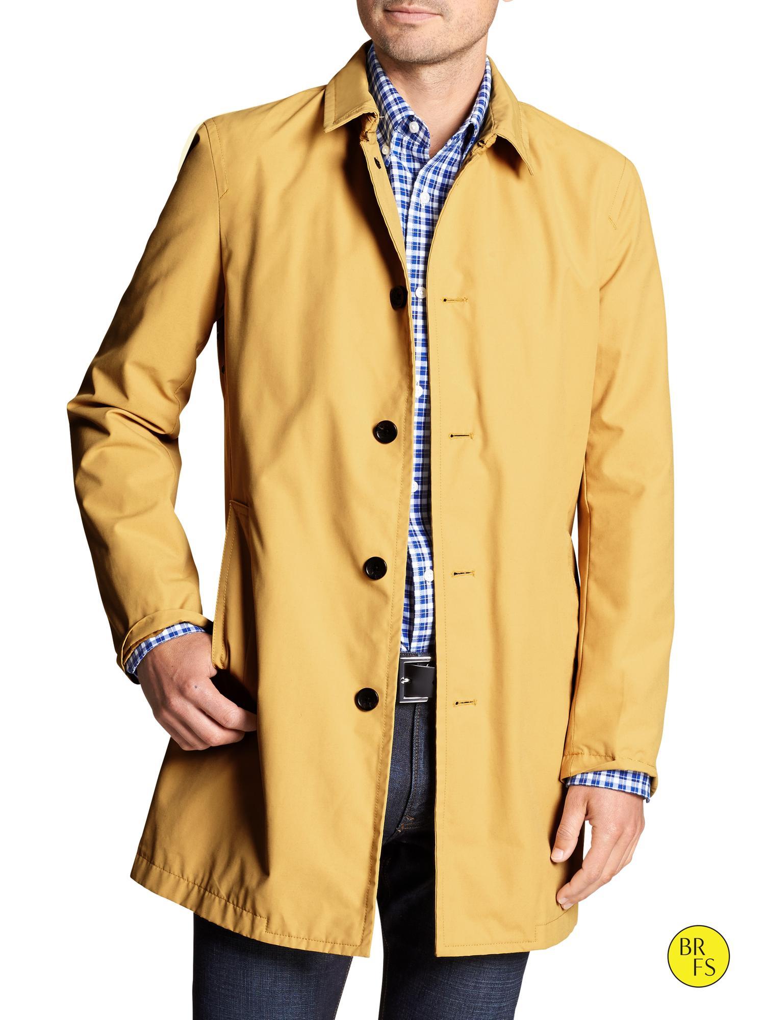 Banana Republic Factory Khaki Mac Jacket In Yellow For Men