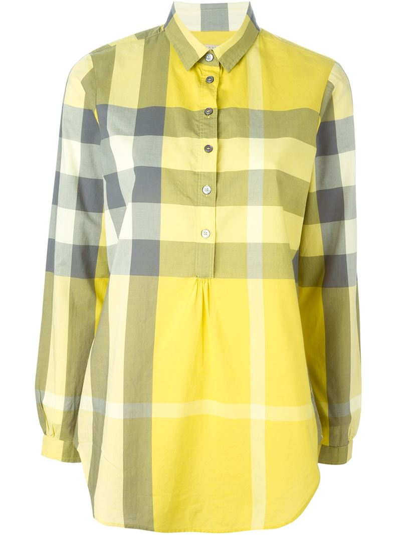 check shirt - Yellow & Orange Burberry Cheap Sale Fast Delivery 2018 New Where Can You Find Clearance Marketable CaLM3G9t