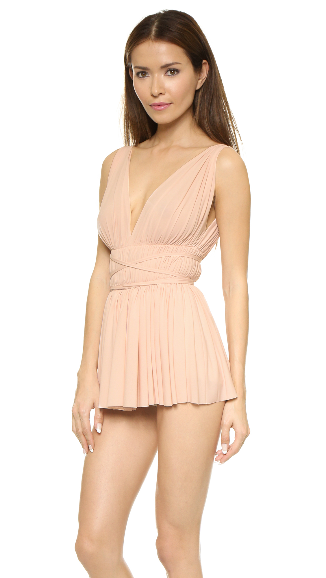 03b3397b33330 Norma Kamali Goddess Swim Dress - Odessa Pink in Pink - Lyst
