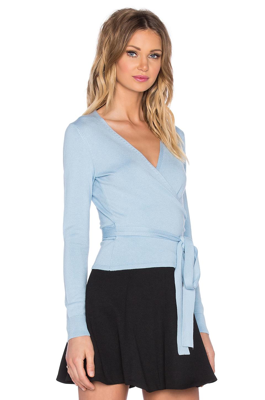 Diane von furstenberg Ballerina Wrap Two Sweater in Blue | Lyst