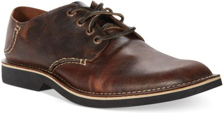 Plain Toe Oxford Brown Plain Toe Lace-up Oxfords