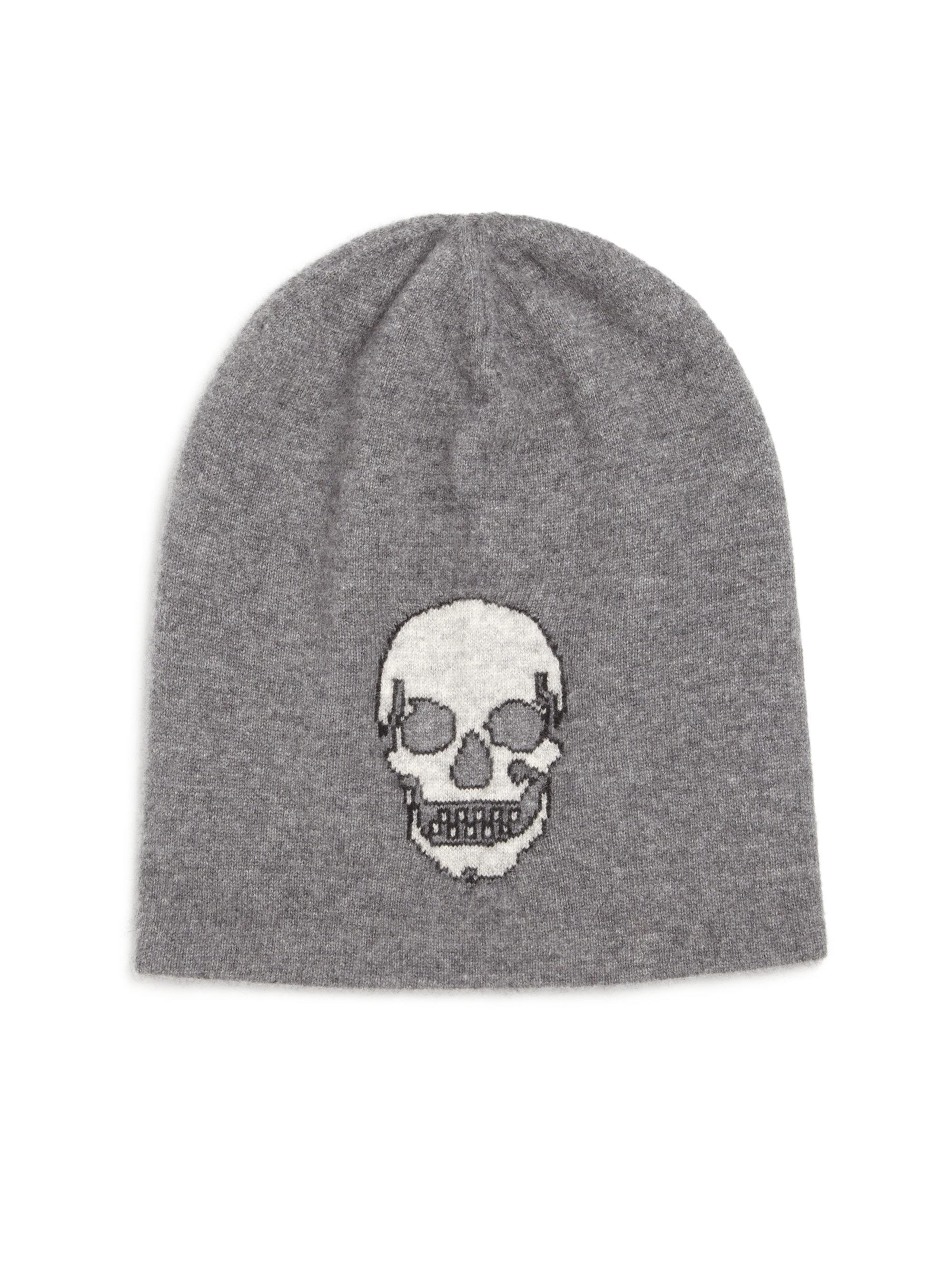 Lyst - 360cashmere Birdman Skull Cashmere Beanie in Gray fa3b258a60c