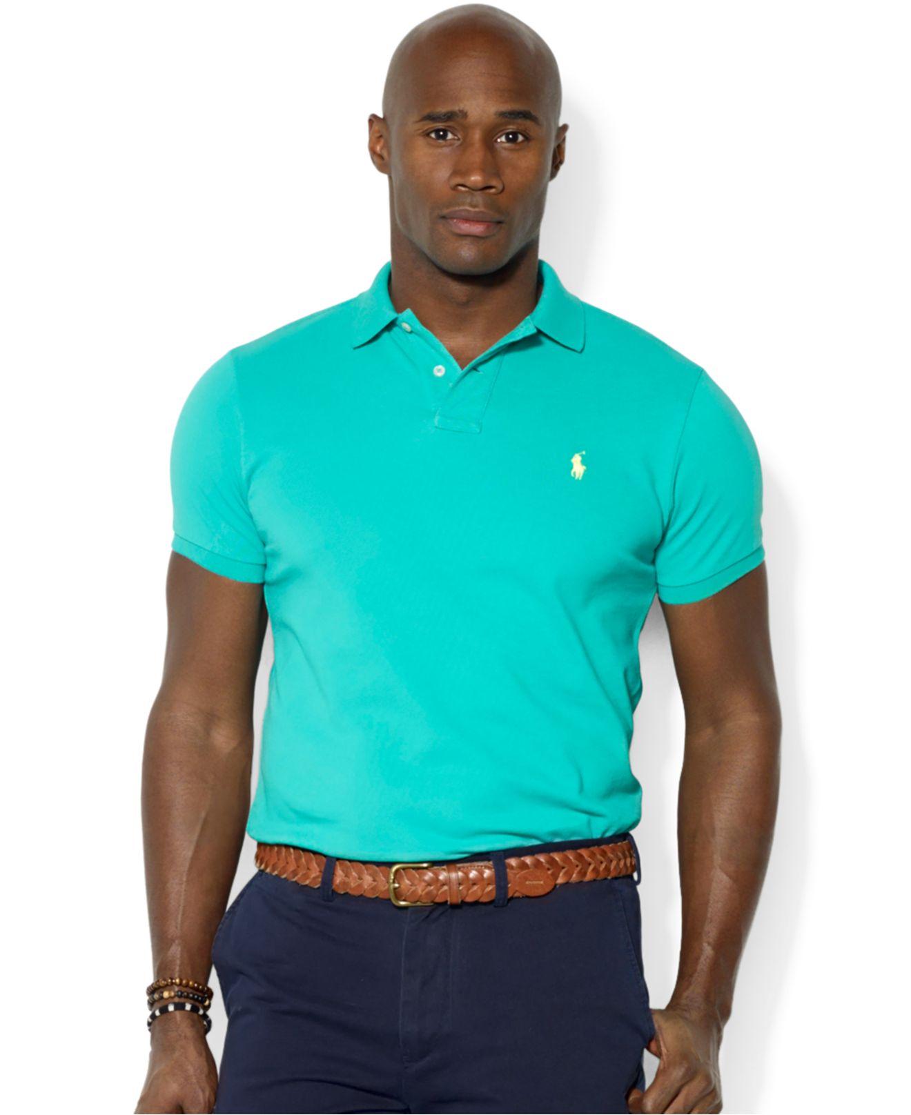 Polo Ralph Lauren Green Black Breathable Short Sleeved .