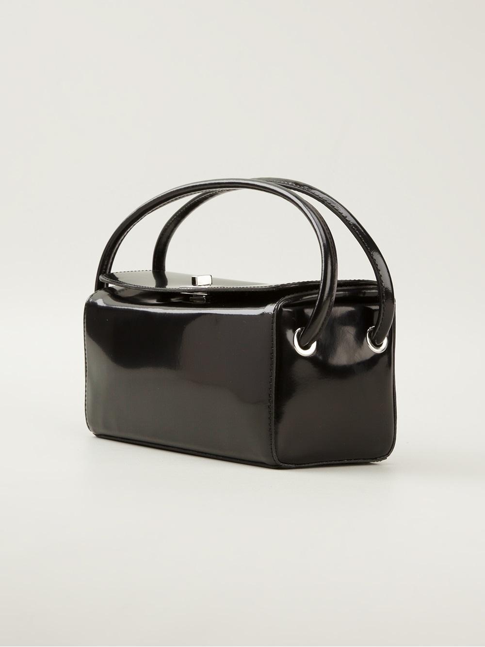 Lyst Carven Rectangle Box Bag In Black