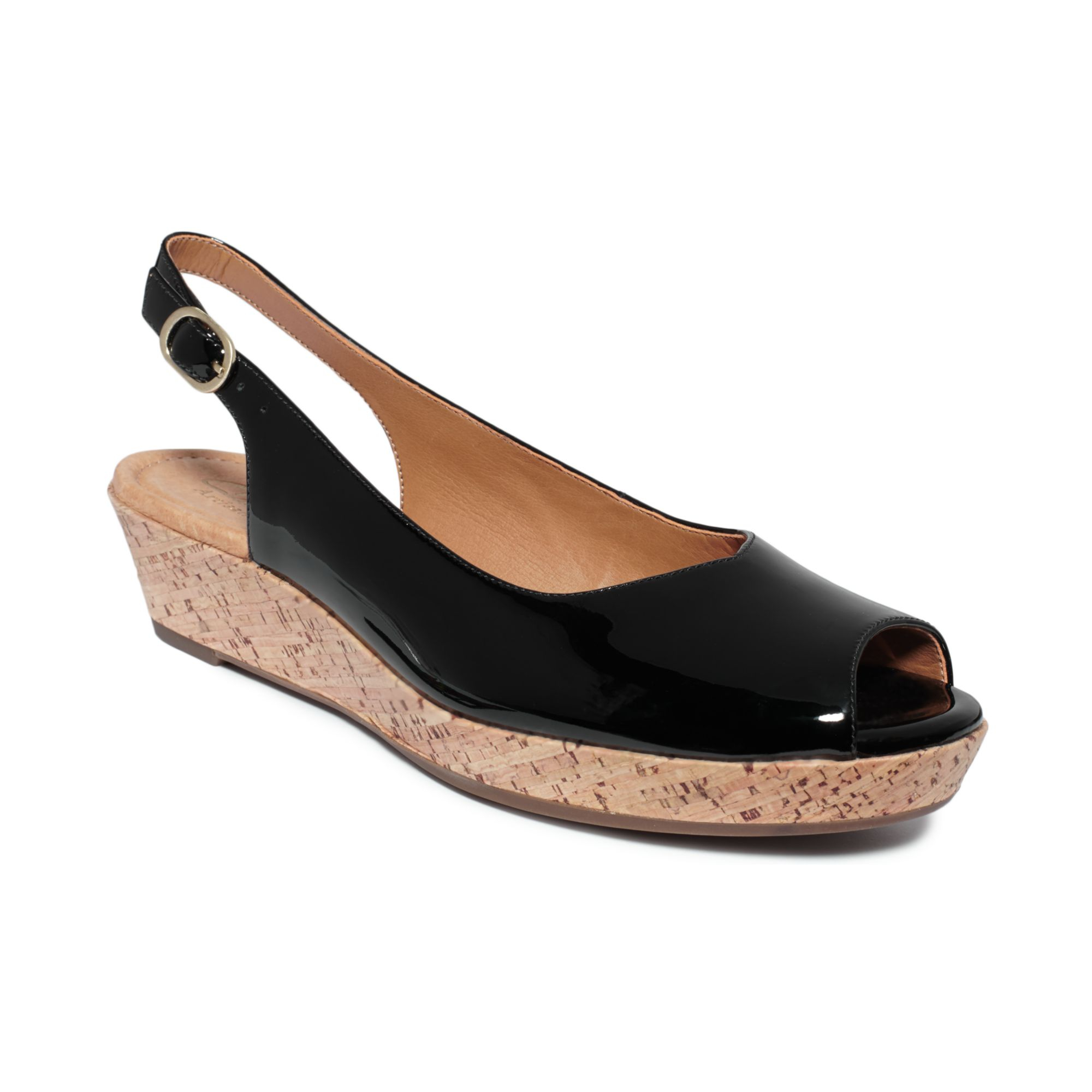 Lastest Look At All That Cushiony Support! Look At The The Shiny Copper Patent! Look At The Stylish Cork Wedge! Look At The Ant The Alameda Is By Far My Favorite Clarks Sandal This Season From The Artisan Line, No Comfort OR Style Detail Has
