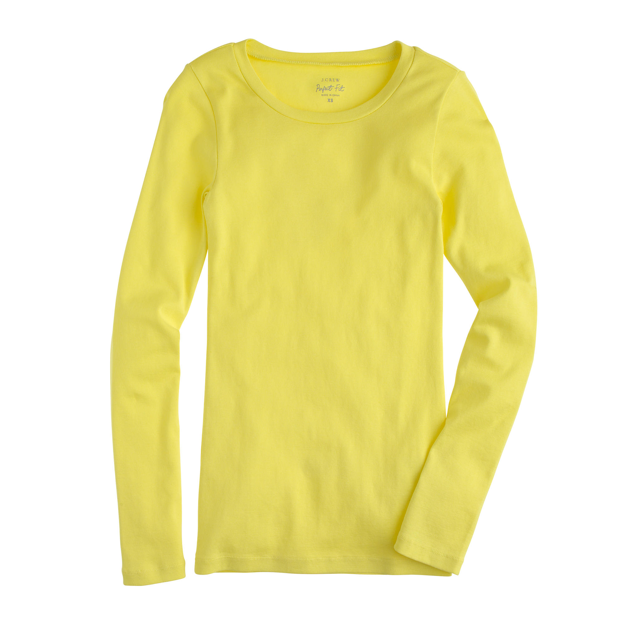 Perfect Fit Long Sleeve T Shirt In Yellow Lyst