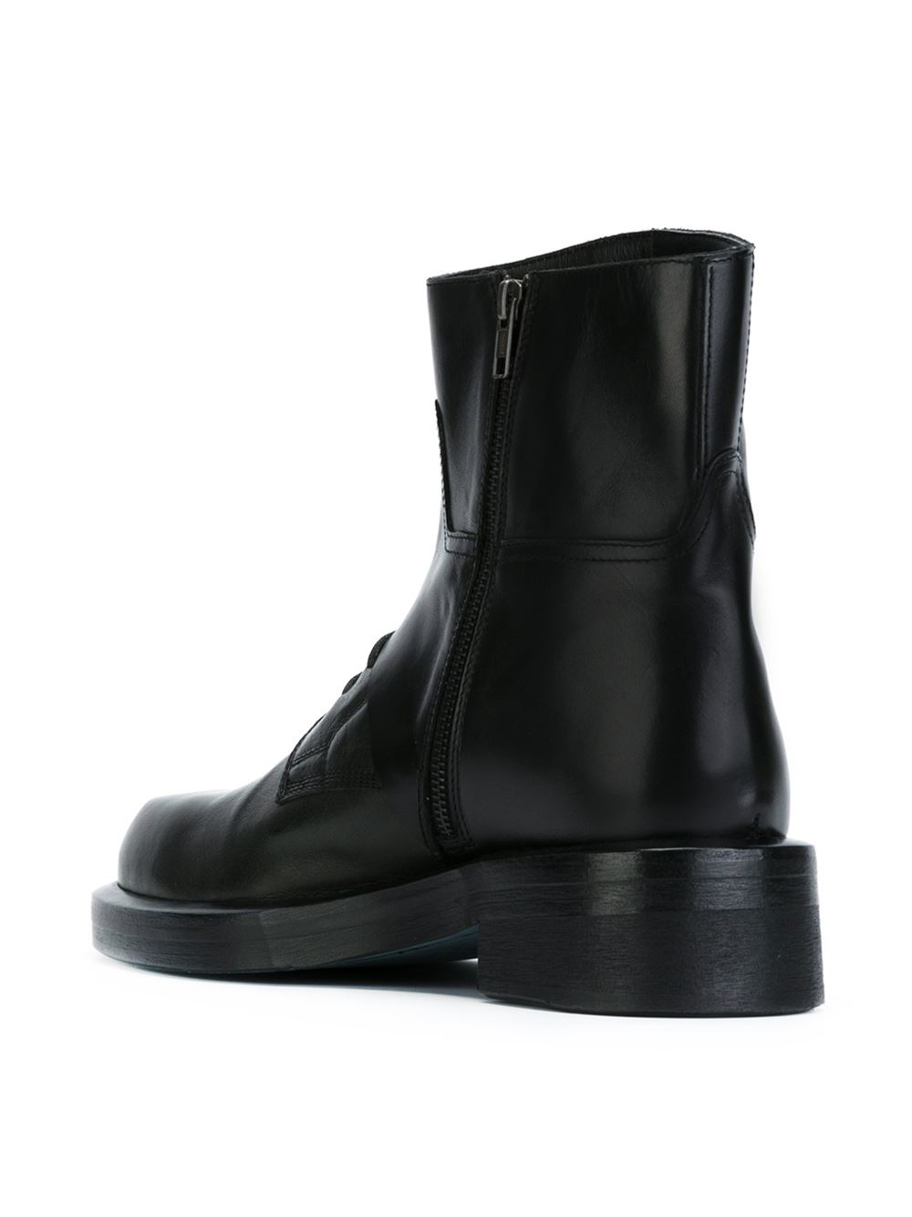 Lyst Ann Demeulemeester Chunky Lace Up Ankle Boots In
