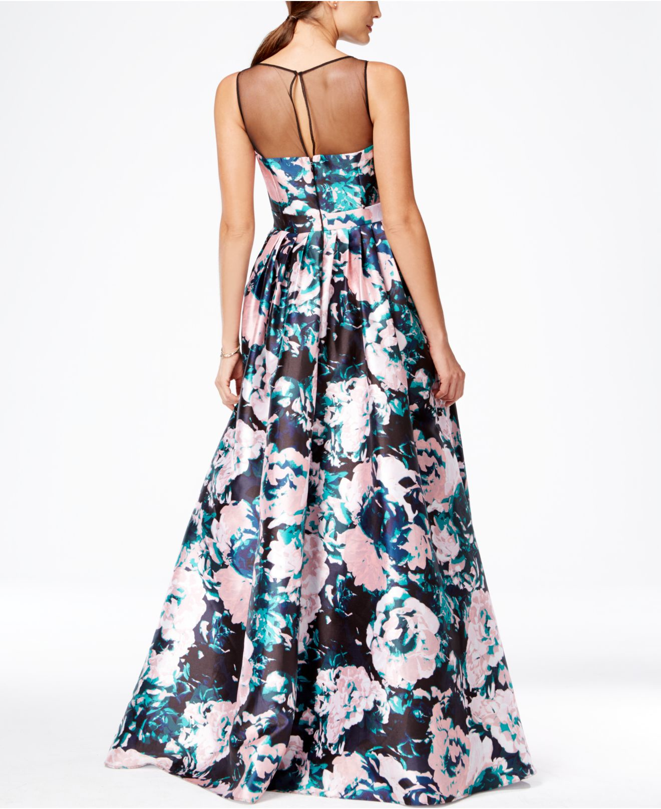 Lyst - Adrianna Papell Floral Fit And Flare Dress