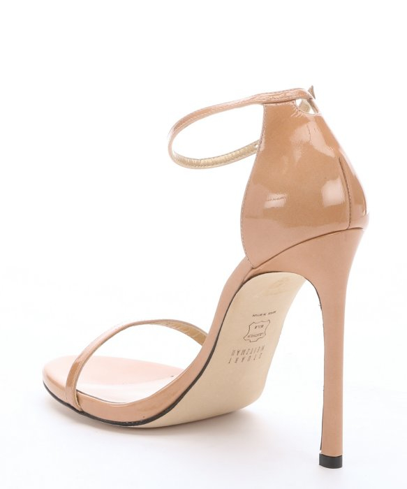 cheap limited edition low cost online Stuart Weitzman Patent Leather Ankle Strap Sandals ochizUG1jP