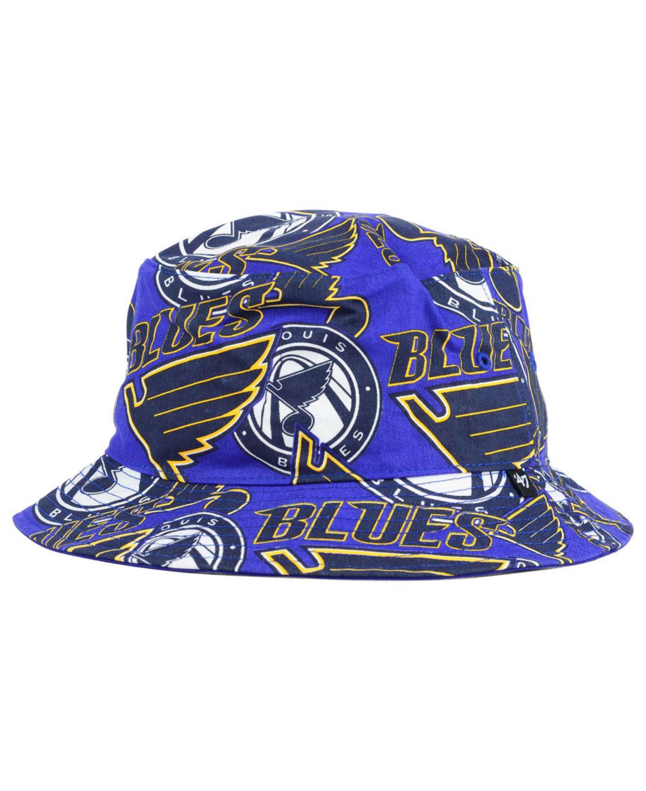 e372c014719 Lyst - 47 Brand St. Louis Blues Bucket Hat in Blue