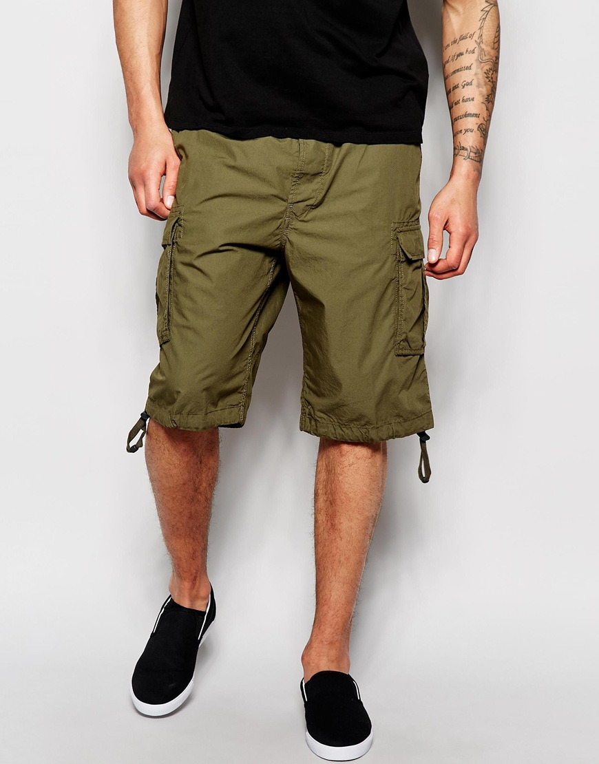 Diesel Cargo Shorts P-airal-short in Natural for Men | Lyst