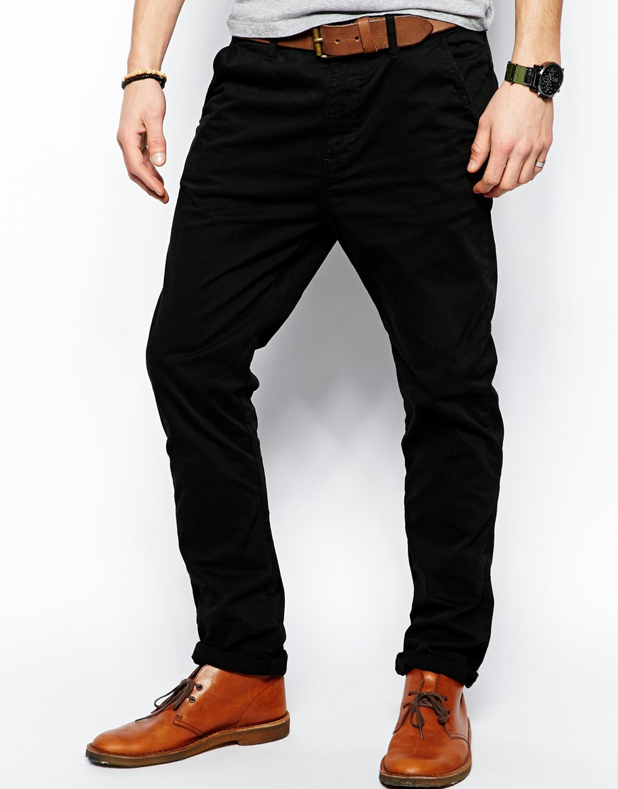 Nudie jeans Nudie Chinos Khaki Slim Fit Organic Twill in Black for ...