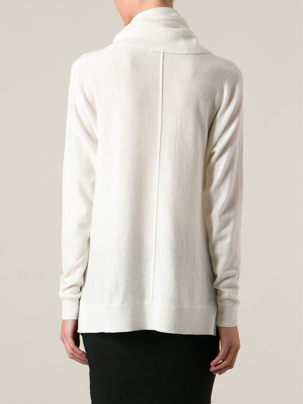 Lyst Vince Cowl Neck Sweater In White