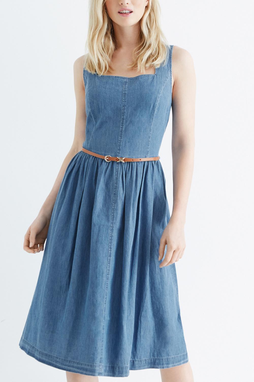 Oasis Jasmine Denim Midi Dress In Blue Lyst