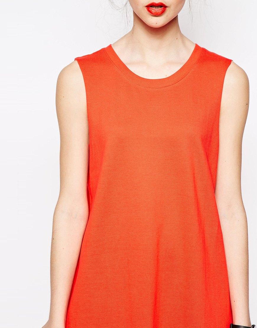 red sleeveless shirt dress « Bella Forte Glass Studio
