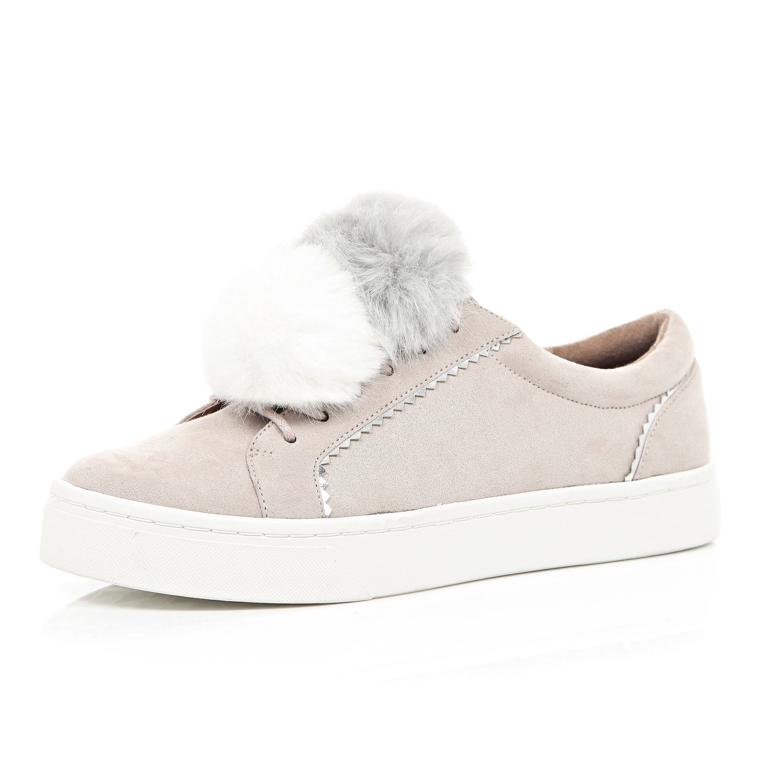 830764813645 River Island Light Pink Pom Pom Trainers in Pink - Lyst