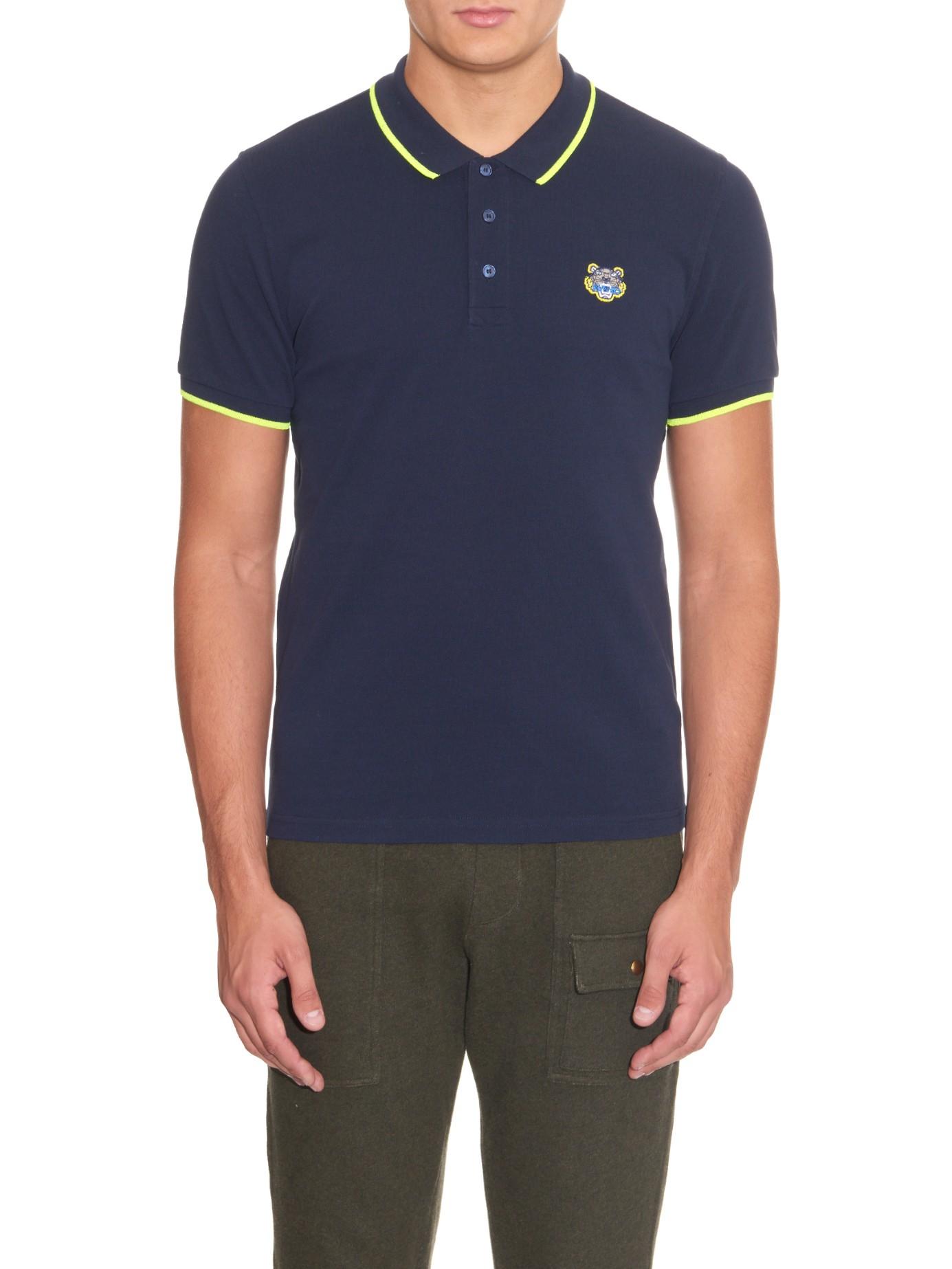 a4b6472f72 Lyst - KENZO Tiger-Patch Cotton-Piqué Polo Shirt for Men