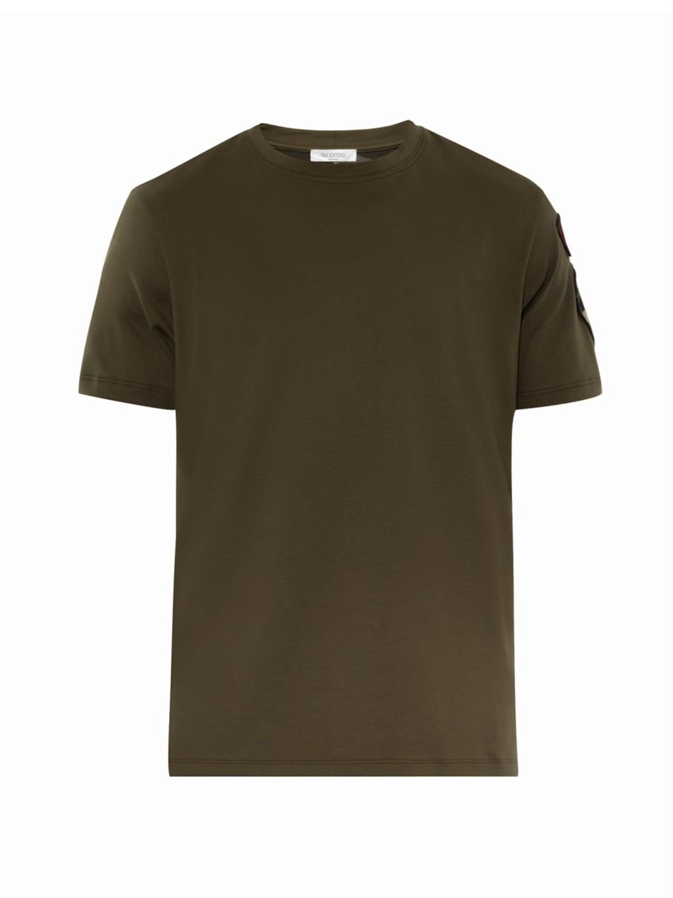 Lyst - Valentino Embroidered-Patch Army T-Shirt in Green for Men 2858fa3351c
