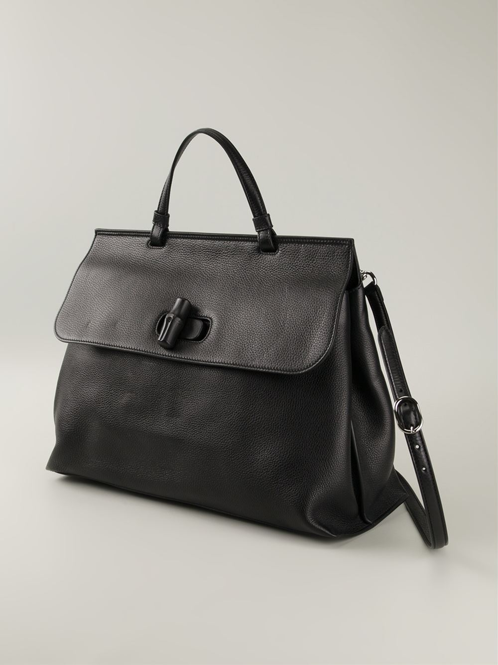 2d847b1521d616 Gucci 'bamboo Daily' Tote in Black - Lyst